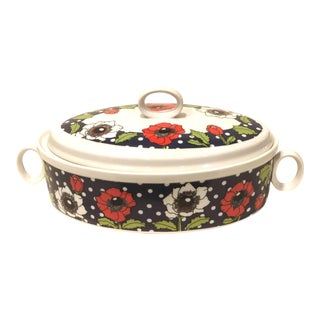 Polka Poppy Georges Briard Covered Casserole