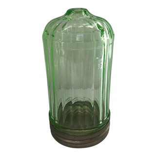 Vase Green Glass Cheese Shaker For Sale