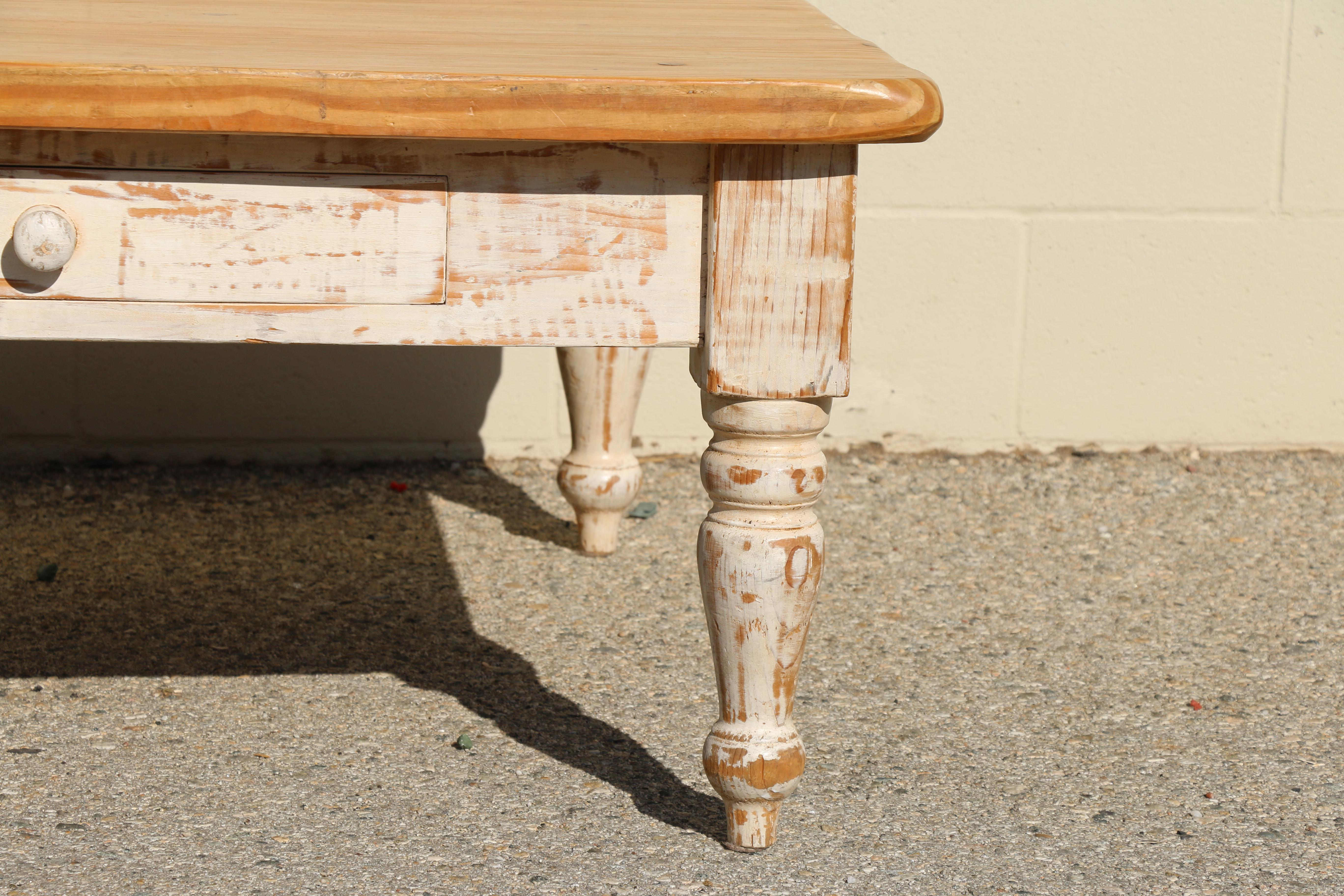Rustic Pine Coffee Table For Sale   Image 4 Of 11