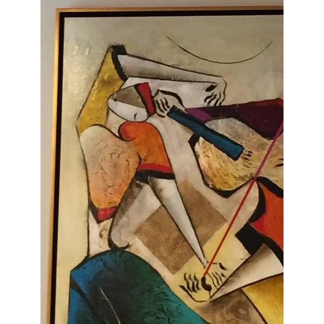 "Canvas Original David Schluss Painting ""Fantasia of Music"" For Sale - Image 7 of 8"