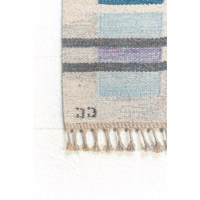 Textile Scandinavian Modern Judith Johansson Tapestry Rug - 4'5'' X 6'8'' For Sale - Image 7 of 11