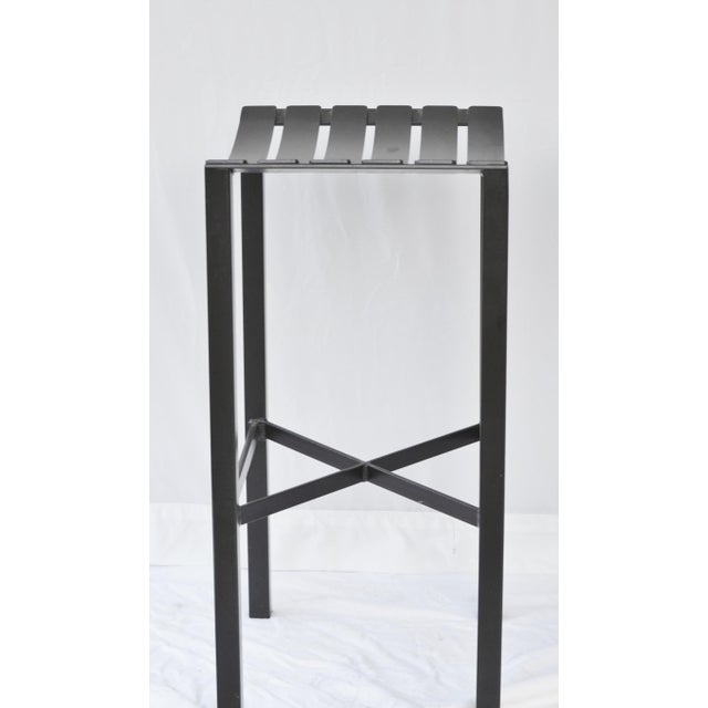 A Pair of Charleston Forged Iron Parsons Stools - Image 4 of 10