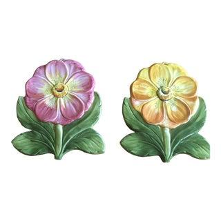 Chelsea House Porcelain Flowers - a Pair For Sale
