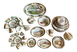 Image of Newly Made Traditional Dinnerware