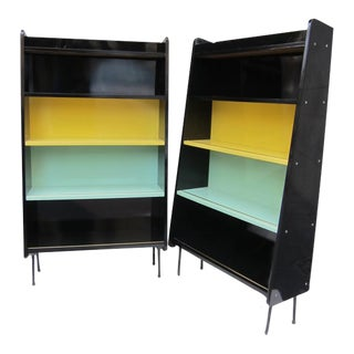 A Pair of Signed Lacquered Shelves, Sweden 1960