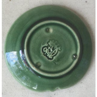 19th Century Etruscan Green Leaf Majolica Butter Pat Preview