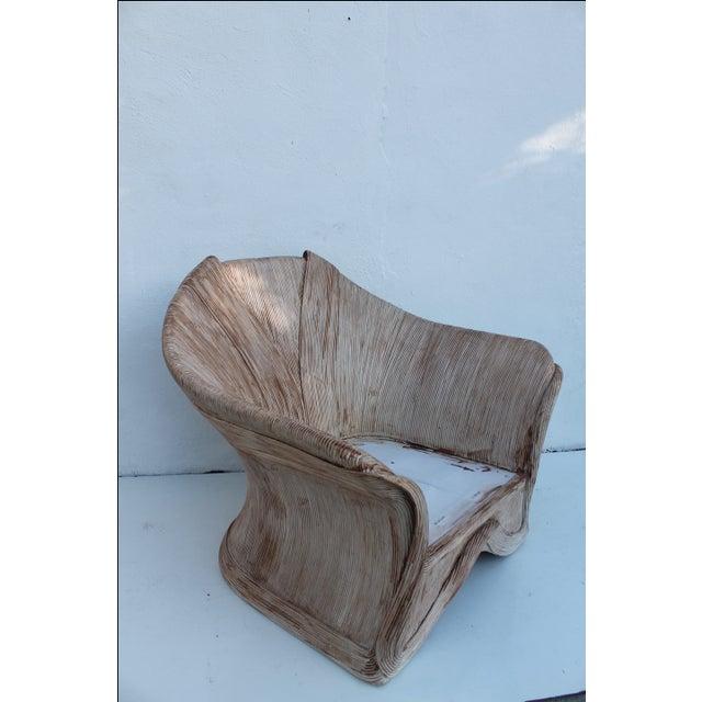 Gabriella Crespi Style Pencil Bamboo Club Chair - Image 2 of 11