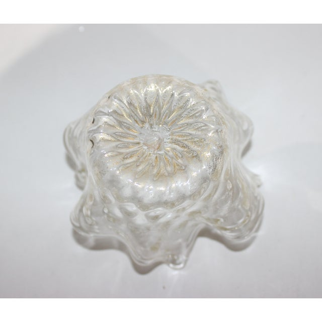 Petit Murano Glass Free Form Bowl Gold flecked from a Palm Beach estate
