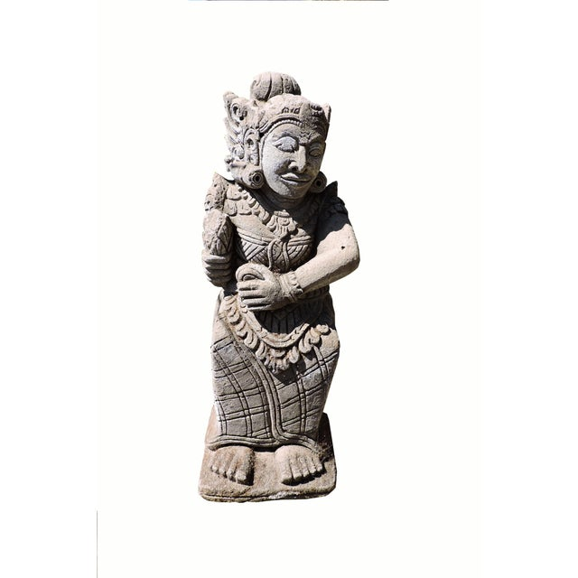 Early 20th Century Carved Balinese Statue For Sale - Image 5 of 5