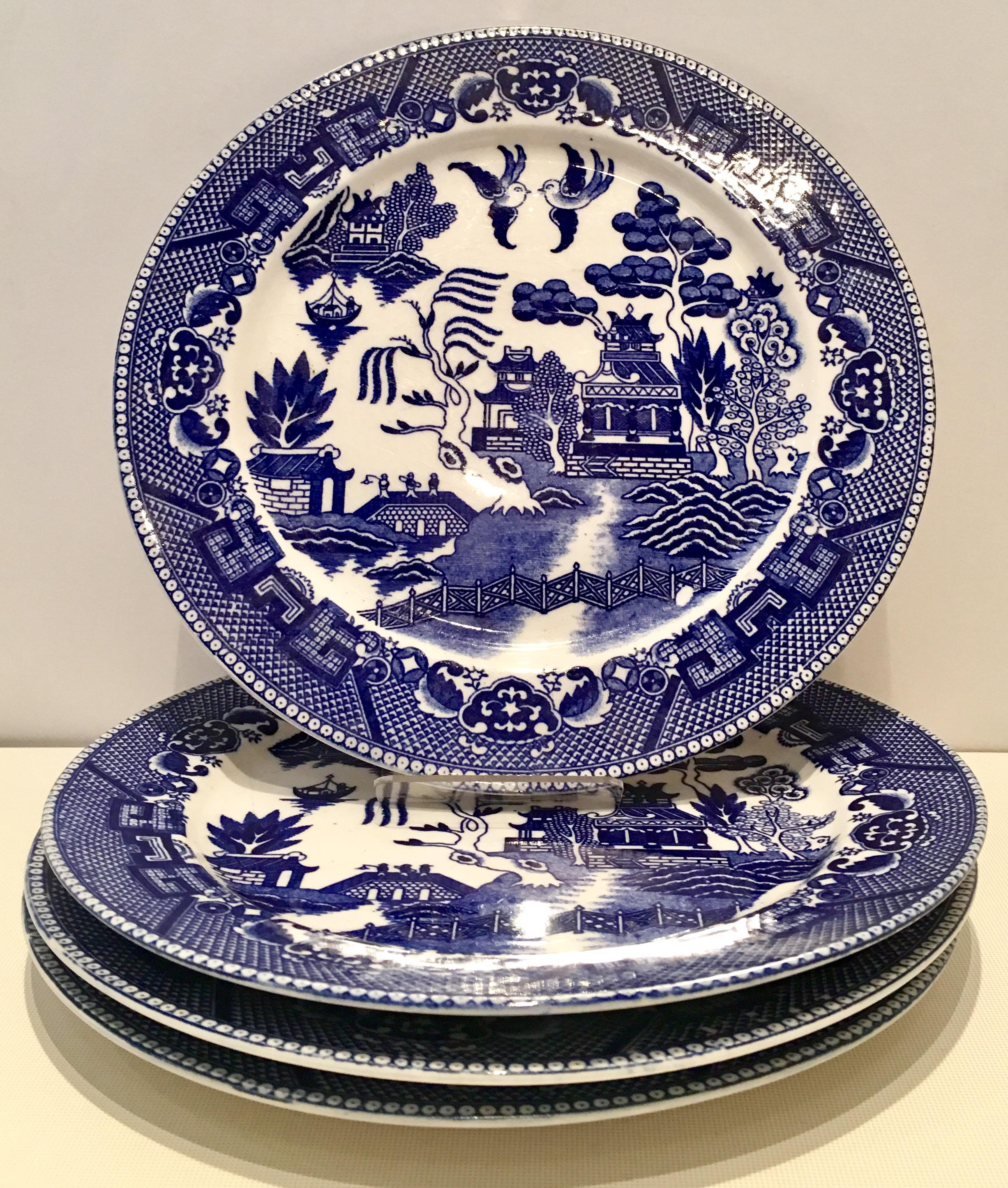 Japanese Blue Willow Dinnerware - Set of 15 - Image 3 of 7  sc 1 st  Chairish : blue willow dinnerware - pezcame.com