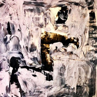 Black and White #1 Acrylic Painting For Sale