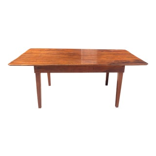 Rustic Barnwood Plank Top Dining Table For Sale