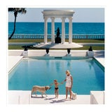 "Image of Slim Aarons, ""Nice Pool,"" January 1, 1955 Getty Images Gallery Art Print For Sale"