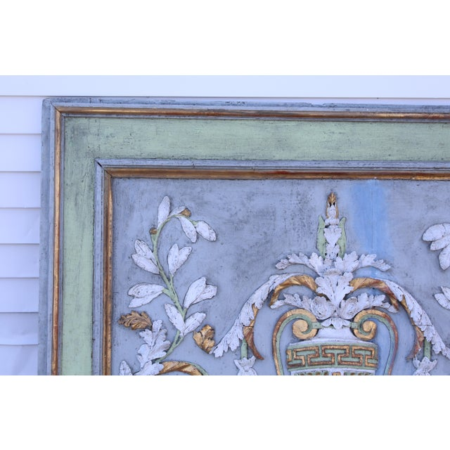 Late 18th Century Late 18th Century Swedish Neoclassic Gustavian Wall Panels- A Pair For Sale - Image 5 of 12