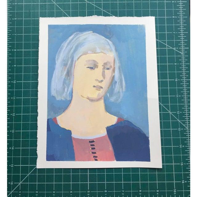 Figurative Renaissance Woman Original Portrait Painting For Sale - Image 3 of 4