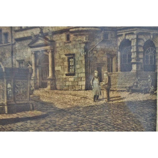 Green Vintage Ernst Geissendorfer Etching For Sale - Image 8 of 11
