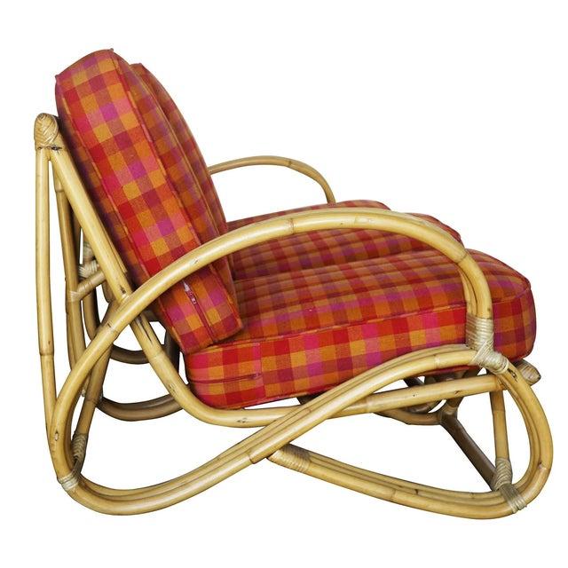 "Mid-Century Modern Restored Three-Strand ""S-Arm"" Rattan Living Room Set For Sale - Image 3 of 11"