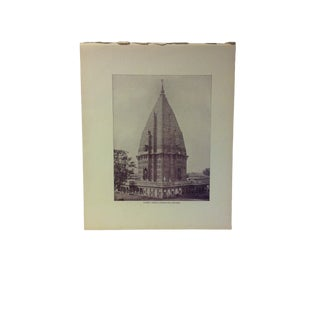 "Antique Glimpses of India Print, ""Sumrer Temple - Ramnugger Benares"", Circa 1890 For Sale"