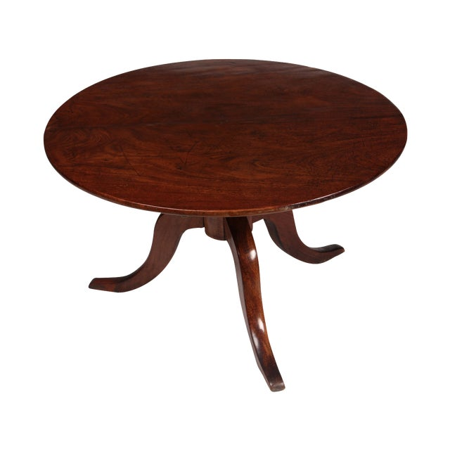 Romanian Walnut Round Side Table - Image 1 of 6