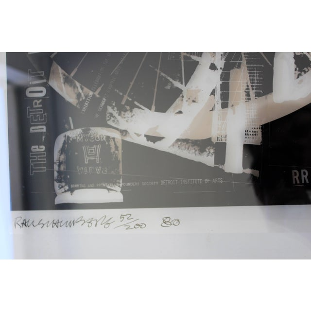 Printmaking Materials Mid-Century Modern Robert Rauschenberg Signed Photolithograph, 1980 52/200 For Sale - Image 7 of 9