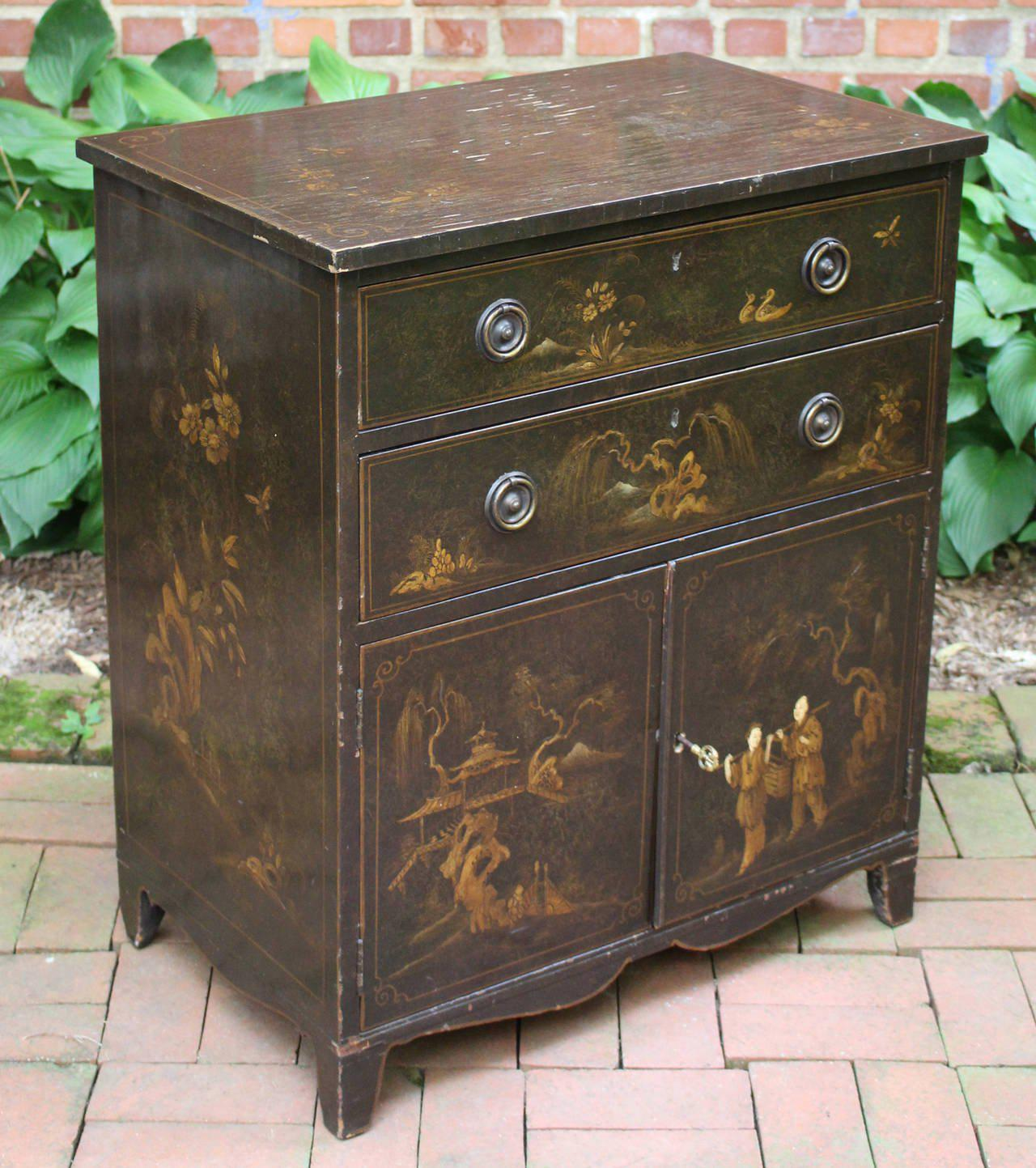 Charmant 19th Century English Chinoiserie Cabinet For Sale   Image 5 Of 10