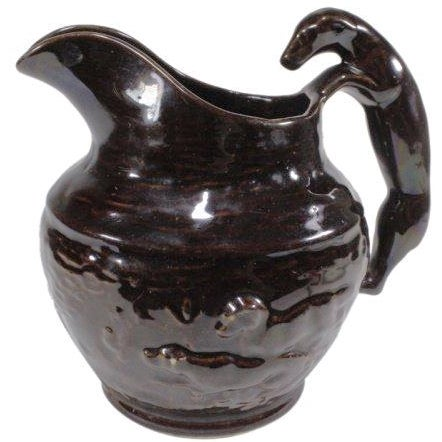 Rockingham-Style Pitcher with Hound Handle For Sale