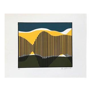 1967 Vintage Don Cameron Abstract Landscape Lithograph Print
