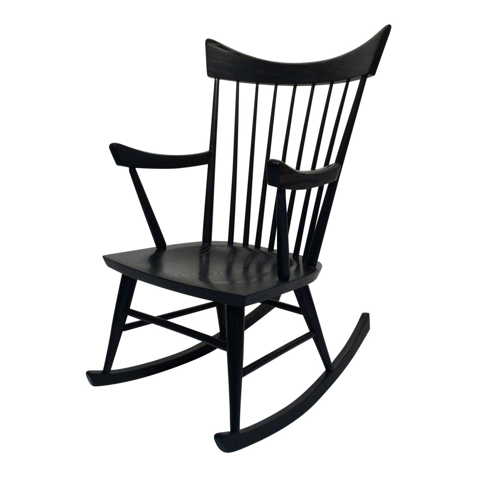 ebony-black-rocking-chair