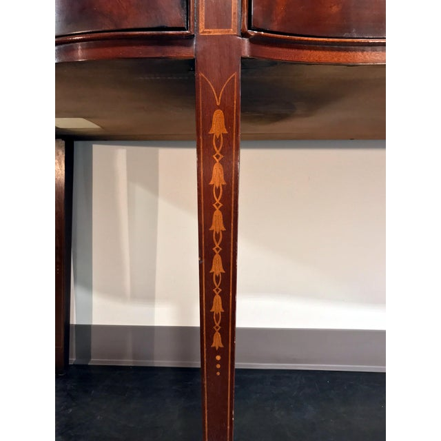 Bernhardt Centennial Collection Federal Style Serpentine Mahogany Sideboard For Sale - Image 9 of 13