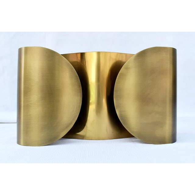 Gold Brass Wall Sconce For Sale - Image 8 of 8