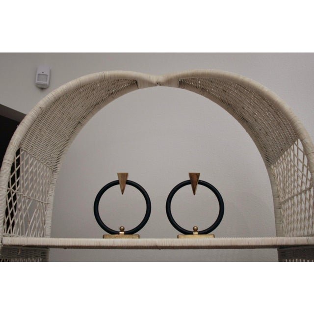 Paint Danny Ho Fong-Style Wicker Etageres, Set of 2 For Sale - Image 7 of 12