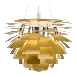 Monumental Poul Henningsen Brass PH Artichoke Chandelier for Louis Poulsen For Sale