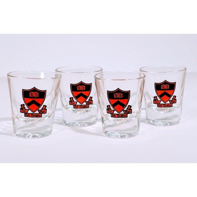 Vintage Princeton Shot Bar Cocktail Whiskey Glasses - Set of 4 For Sale - Image 4 of 6