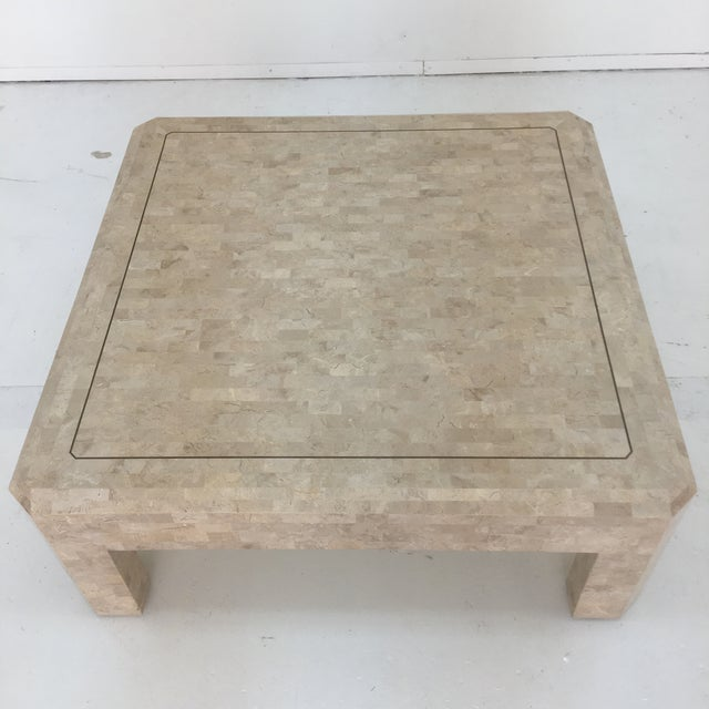 Art Deco Maitland Smith Tessellated Stone Coffee Table For Sale - Image 9 of 13