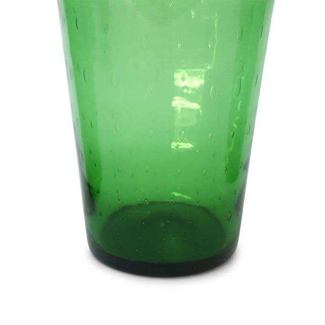 Mid-Century Modern Italian Green Glass Vase by Empoli For Sale - Image 3 of 8