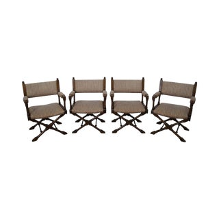 Regency Style Directors' Arm Chairs - Set of 4 For Sale