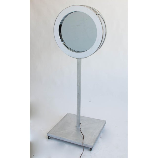 Metal Curtis Jeré Infinity Mirror with Floor Mount For Sale - Image 7 of 7