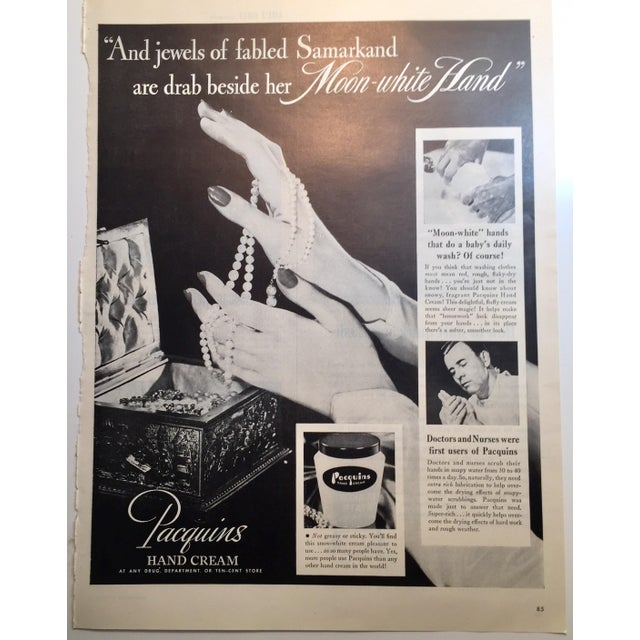 1946 Vintage Paquin's Hand Cream Ad - Image 2 of 4