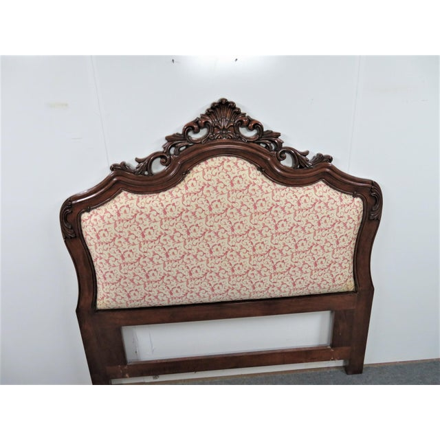 Rococo Rococo Mahogany Carved Queen Size Headboard For Sale - Image 3 of 5