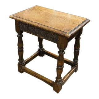 English Oak Joint Stool For Sale