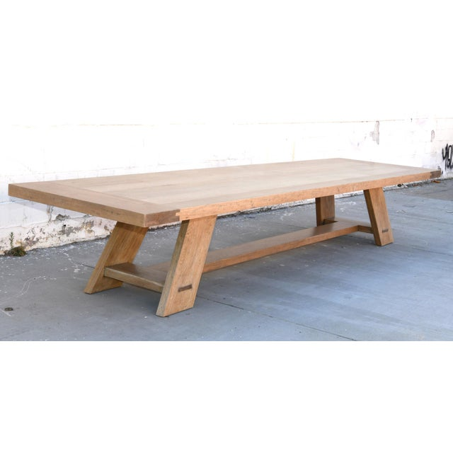 Rustic Rustic Banquet Table Made From Rift Sawn White Oak For Sale - Image 3 of 13