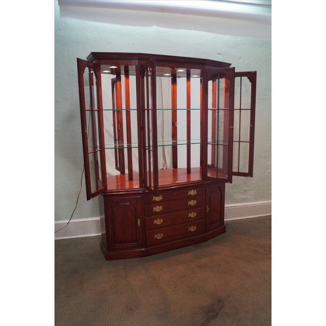 Henkel Harris Solid Cherry Breakfront Cabinet - Image 2 of 10