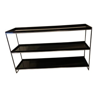 Modern Ligne Roset Inspired Black and Chrome Etagere For Sale