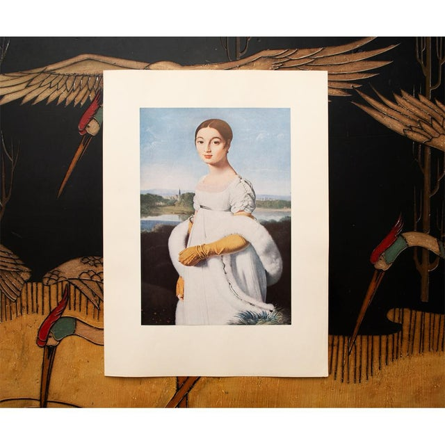 """1940s Jean-Auguste-Dominique Ingres """"Mademoiselle Riviere"""", 1940s Swiss Photogravure For Sale - Image 5 of 7"""