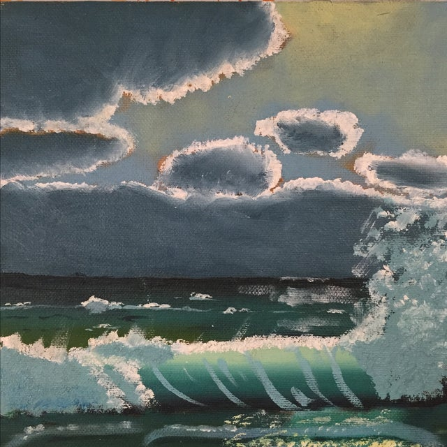 Ocean Acrylic Painting - Image 5 of 9