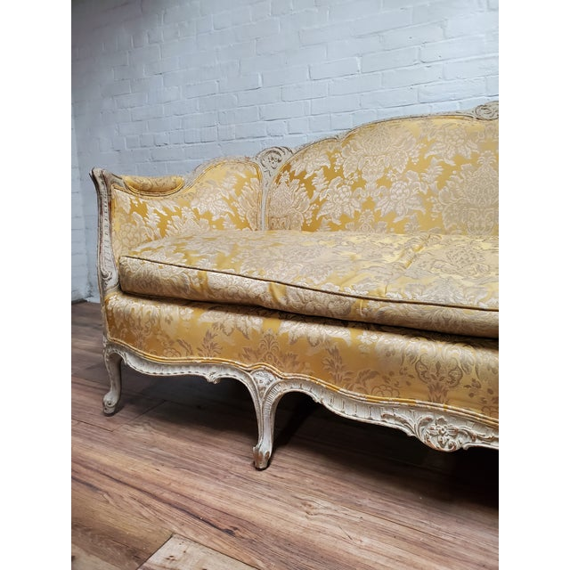 1930s Antique Victorian French Louis XV Style Couch For Sale - Image 11 of 13