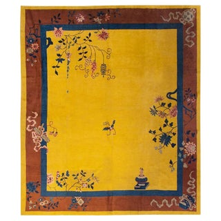Chinese Art Deco Rug - 9′1″ × 11′4″ For Sale