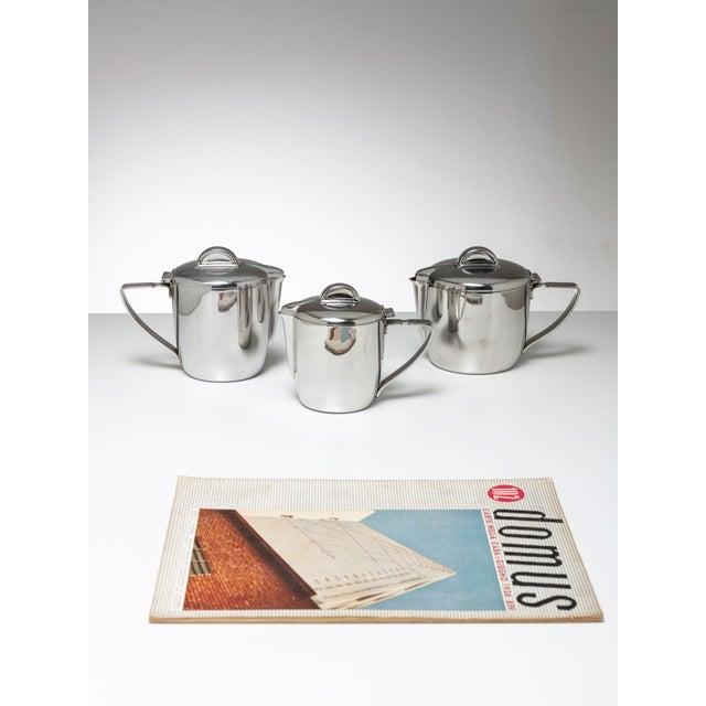 Gio Ponti Steel Set by Gio Ponti for Calderoni For Sale - Image 4 of 5