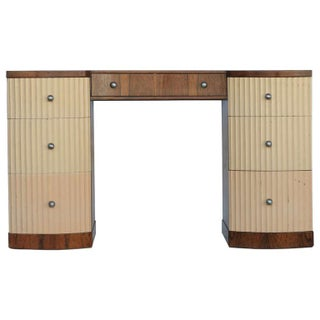 Paul Frankl Demi-Lune Vanity/Desk For Sale