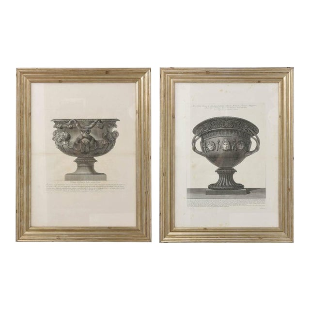 Set of Two Italian Copper-Plate Engravings by Giovanni Battista Piranesi For Sale